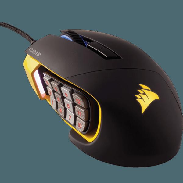 Мышь Corsair Scimitar PRO RGB Yellow-Black