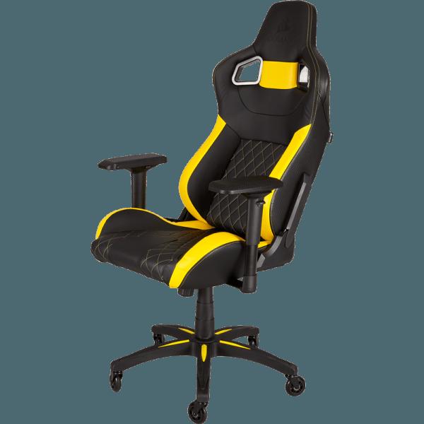 Кресло для геймера Corsair T1 Race Yellow