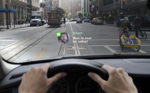 Navdy проецирование приложений на лобовое стекло автомобиля Android
